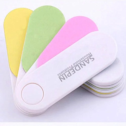 EYX Formula 4 Pcs Professional Mini Sector nail Polishing file ,Colorful with Four functions Manicure tools Nail File for Women Ladies Girls