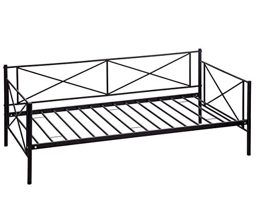 BestMassage Victoria Metal Daybed, Metal Sofa Bed Frame ,Multifunctional, Includes Metal Slats, Twin (Daybed Frame Platform)