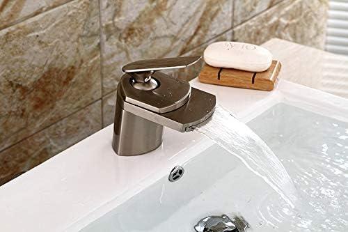Colorful Deck Mount Waterfall Spout Bathroom Basin Mixer 1 Lever  Faucet Tap