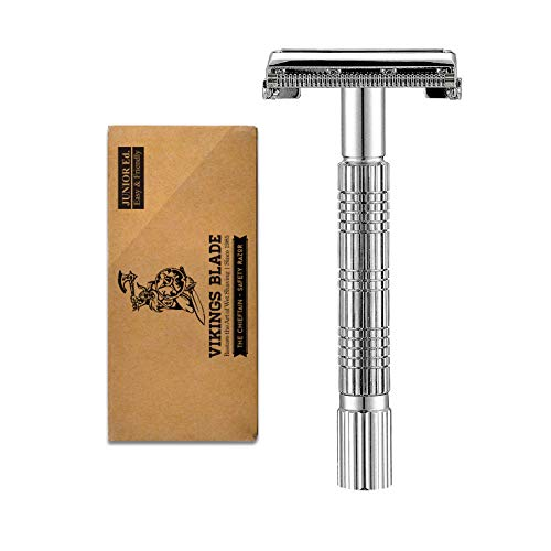 VIKINGS BLADE The Chieftain JR Double Edge Safety Razor (Slim & - Classic Razor