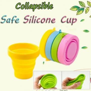 UR Drinkware Portable Silicone Retractable Folding Cup Telescopic Collapsible Outdoor Sports Camping Travel Mug