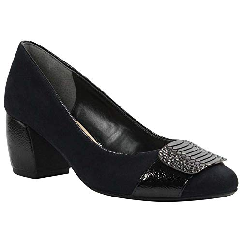 J.Renee Women's Langeley Pump (Black Suede, 8.5 N US)
