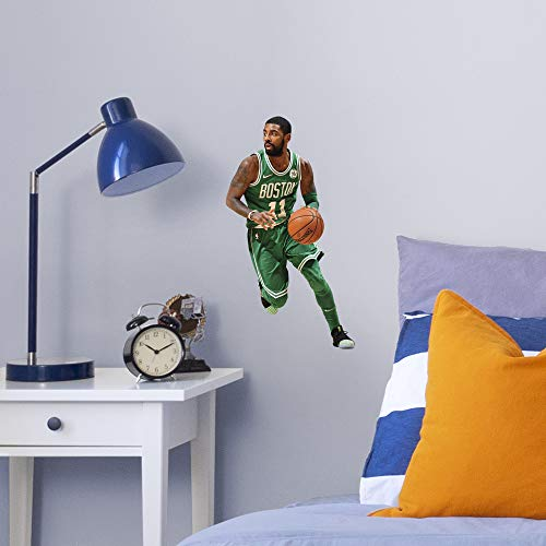 Wall Usa Boston (FATHEAD NBA Boston Celtics Kyrie Irving Kyrie Irving- Officially Licensed Removable Wall Decal, Multicolor, Large)