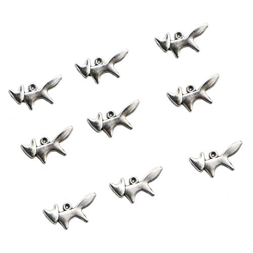 (JETEHO 200 Pcs Vintage Alloy Small Animal Fox Charms Pendant Jewelry Findings for Jewelry Making Necklace Bracelet DIY,)
