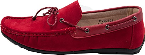 Mens Leather Moccasin Inside G002 Red Gp8JRvqdZI