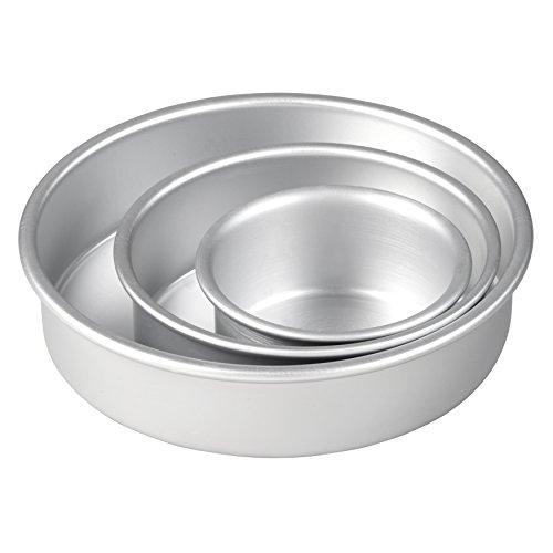 Aluminum Round Pans, 3-Piece 6-Inch Pans