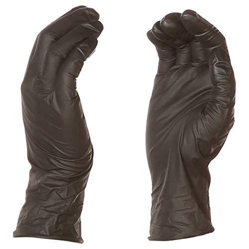 AmazonBasics Powder Free Disposable Nitrile Gloves, 6 mil, Black, Size XXL, 90 per Pack, 10-Pack by AmazonBasics (Image #1)