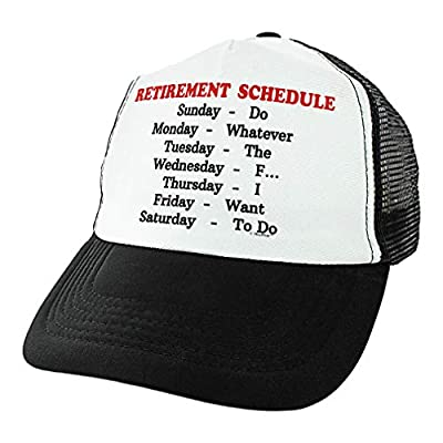 ThisWear Retirement Gag Gifts for Coworkers Retirement Schedule Do Whatever Retiree Hat Sarcastic Trucker Hat