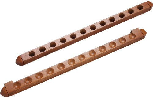 CueStix International 2-Piece 12 Pool Cue Wall Rack with Holes