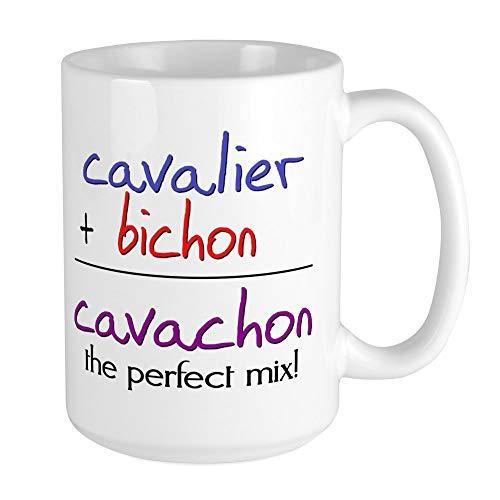 CafePress Cavachon PERFECT MIX Large Mug Coffee Mug, Large 15 oz. White Coffee Cup