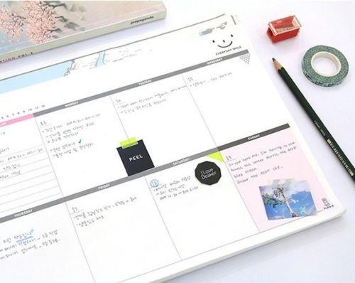 Shalleen 1pc Planner Agenda Scheduler A4 Weekly Study Planner Free Note (Weekly Planner Kawaii 2015)