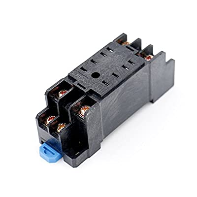 Baomain DYF08A DIN Rail Mount 8 Terminals Relay Socket Base for MY2NJ HH52P H3Y 5 PCS