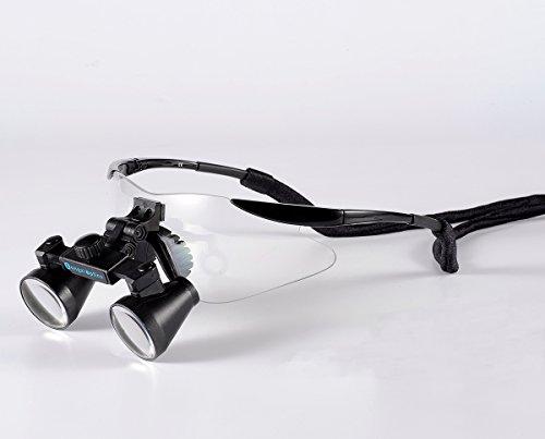 Songzi Optics (2.5X,3X,3.5X Optional) Binocular Dental Loupes Surgical Loupes Black Colour (working distance:(440-540mm)L, Magnification:2.5X)