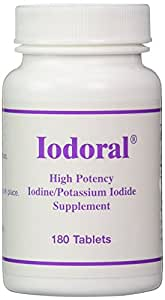 Optimox - Iodoral, Thyroid Support with Iodine, Iodide, and Potassium, 180 Tablets