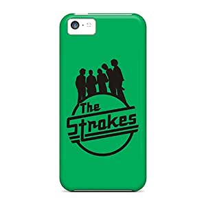 Shockproof Hard Cell-phone Cases For Apple Iphone 5c (giY10329SrnT) Custom Nice The Strokes Green Logo Skin