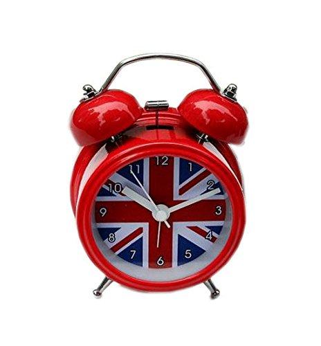 Creative Union Jack Small Night-light Alarm Clock with Loud Alarm