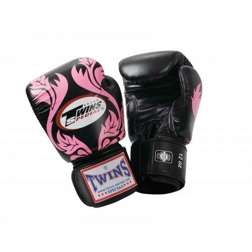 Twins Boxing Gloves Flourish - Black/Pink - 16 oz