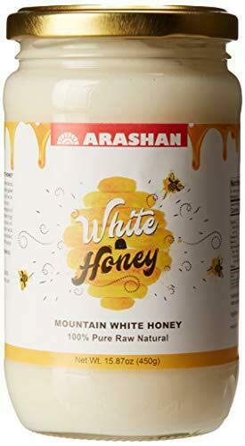 Arashan White Honey - Raw Unfiltered Honey, Organic (2 pack)| Wildflower/Clover Honey From The Mountains Of Heaven (Tien Shan, KGZ) | Natural, Wild Honey From Bees | Anti-Aging, KOSHER-CERTIFIED