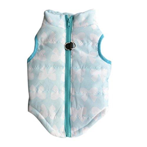 [Dog Clothes,Laimeng, New Hot Fashion Winter Pet Dog Blue Bowknot Cloth Vest (L, Blue)] (Hot Policeman Costume)