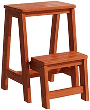 GBX Fácil y cómodo taburete plegable Paso, La escalera plegable - Pequeña Escala de madera 2 Piso Escalera plegable - taburete plegable portátil Escalera - Escalera Silla (36 × 48 × 56 cm), taburete: Amazon.es: Bricolaje y herramientas