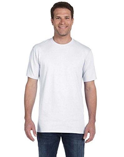 (Anvil 780 Adult Heavyweight Short Sleeve Cotton Tee White)