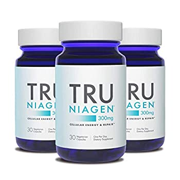 Image of Health and Household TRU NIAGEN Nicotinamide Riboside - Patented NAD Booster for Cellular Repair & Energy, 300mg Vegetarian Capsules, 300mg Per Serving, 30 Day Bottle (3 Pack)