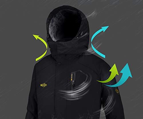 Wantdo Men's Mountain Waterproof Ski Jacket Windproof Rain Jacket Winter Warm Snow Coat 6