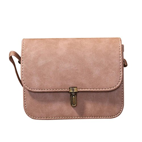 BURFLY? Women Lady Leather Satchel Handbag, Retro Girls Shoulder Tote Crossbody Bags Small Holiday Weekend Party Messenger Shoulder Bags for Women Girls Pink