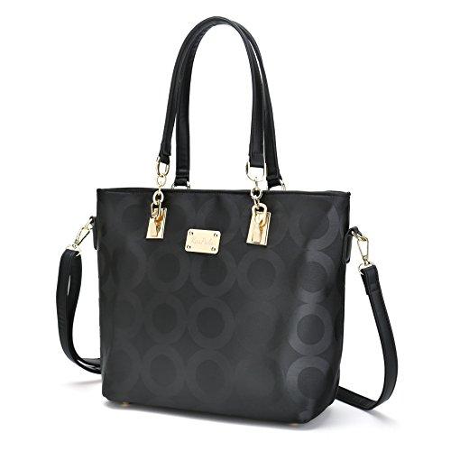 bag 1 Bags Black Piece 6 bag Purse Key Shoulder Wallet Set Women Crossbody Handbag Small holder wZOPIq6