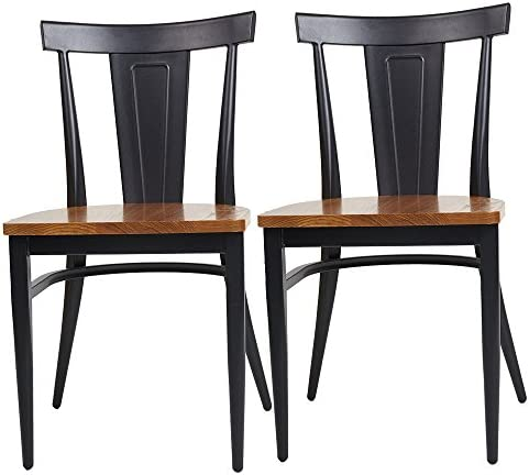 Livebest 2 Packs High Back Dining Chairs Metal Leg Side Chair
