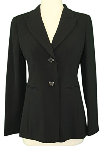 MARINA RINALDI by MaxMara Manuciao Black Two Button Blazer 10W / 19