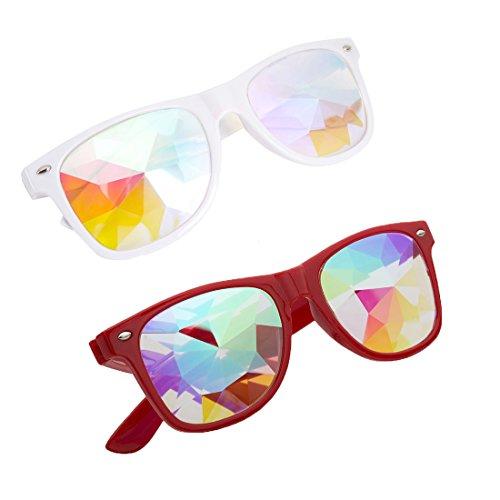 OMG_Shop Kaleidoscope Glasses Festival Cosplay Rainbow Prism Sunglasses Goggles