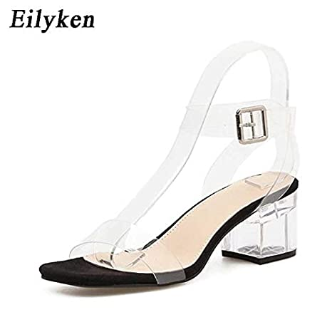85385a45331 Image Unavailable. Image not available for. Color  HuWang 2018 PVC Jelly  Sandals ...