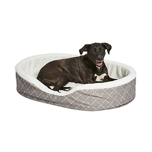 Cradle Bed Pet (MidWest Homes for Pets CU43MRD Couture Orthopedic Cradle Pet Bed for Dogs & Cats, Large)