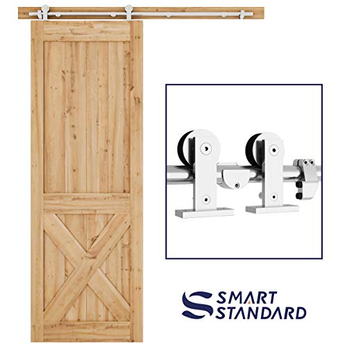 Door Mount Kit - 5ft Top Mount Sliding Barn Door Hardware Kit - Super Smoothly and Quietly - Simple and Easy to Install - Includes Step-by-Step Installation Instruction - Fit 30
