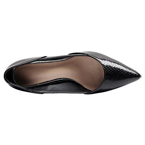 Soirée Chaussures Bureau Femmes Uniforme Élégant Pointu Talon Jamron Aiguille Habillées Travail Noir Mariage Sexy Pompes Bout OTRz0w0q