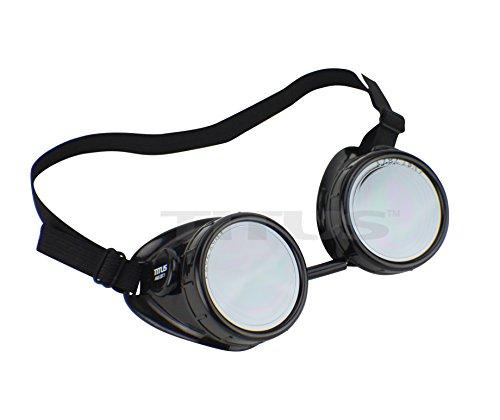 Titus Sports Riders Steampunk Safety Goggles (Standard, - Prescription Australia Sports Glasses
