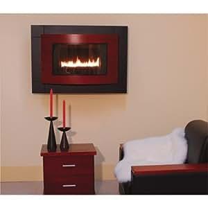 ProCom Wall-Mounted Dual Fuel Vent-Free Fireplace - 20,000 BTU, Cherry, Model# RD-C