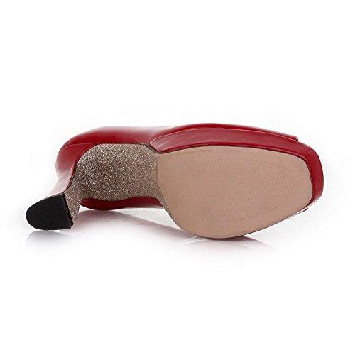 femme cuir pour en Sandales brevet enfiler balamasa red Fashion à PBfxqwqZg
