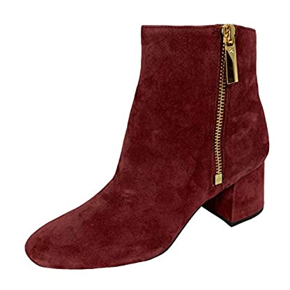 Michael Kors D22 Tronchetto Donna Bordeaux Suede Boots Women 1