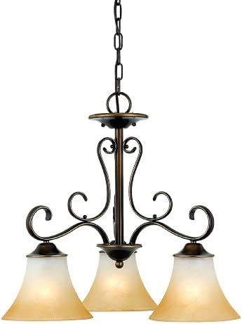 Quoizel DH5105PN Duchess European Downlight Chandelier, 5-Light, 500 Watts, Palladian Bronze 21 H x 25 W