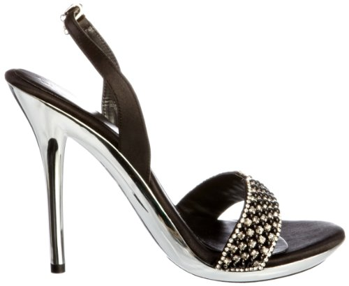 Unze Evening Sandals L18237W - Sandalias para mujer Negro