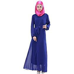ROMANTIC BEAR Muslim Kaftan Abaya Jilbab Islamic Cocktail Dress