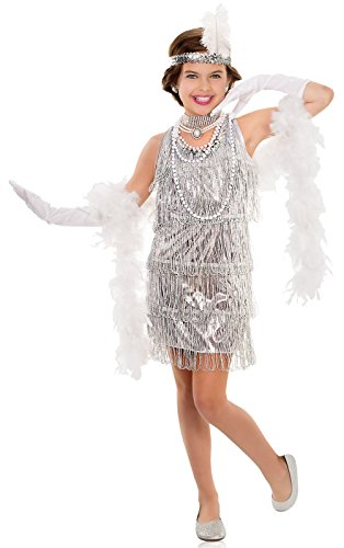 Dazzling Red Flapper Halloween Costumes - Dazzling Flapper Costume for
