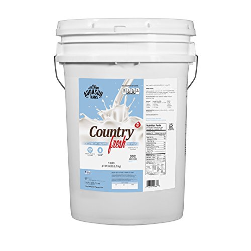 Augason Farms Country Fresh 100% Real Instant Nonfat Dry Milk Emergency Food Storage 14 Pound Pail by Augason Farms