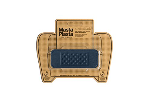 MastaPlasta Self-Adhesive Patch for Leather and Vinyl Repair, Bandage, Navy - 4 x 1.5 Inch - Multiple Colors Available