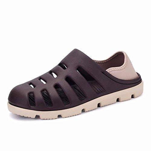 Das neue Sommer Strand Schuh Männer Atmungsaktiv Hohl Ultra-Licht Männer Sandalen Loch Schuh ,grau,US=6,UK=5.5,EU=38 2/3,CN=38