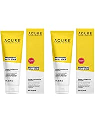 Acure Pore Minimizing Facial Scrub Exfoliator with Moroccan Red Clay, Argan Stem Cells, Black Jojoba Beads, Aloe Vera, Rosehips and Acai, 4 Oz. (Pack of 2)