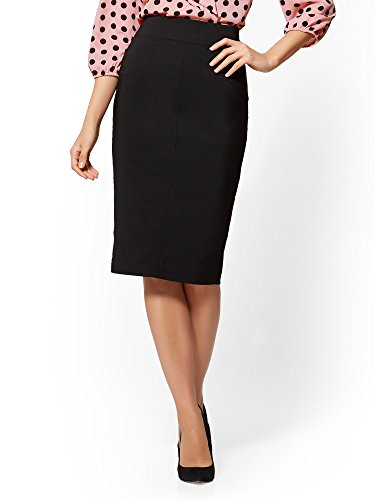 New York & Co. Women's Seamed Pencil Skirt - All-Season Stretch - 16 Black
