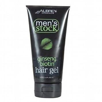 Amazoncom Aubrey Organics Mens Stock Ginseng Biotin Hair Gel 6